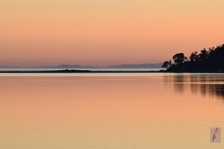 Sunrise from the John Wayne Marine Sequim Washington