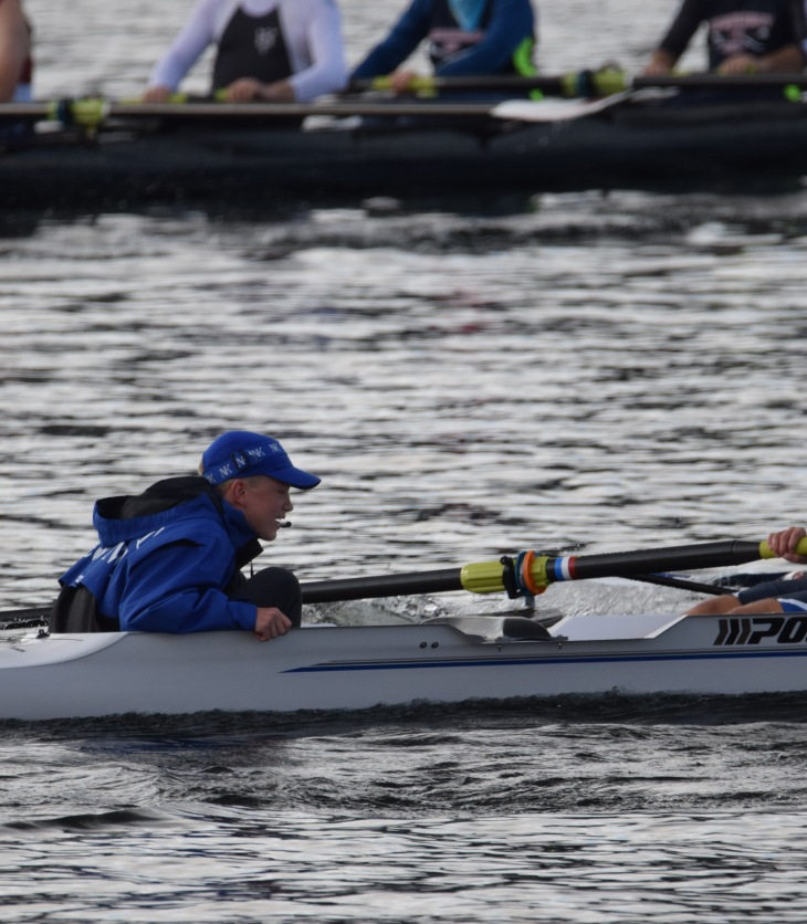 Stroke Seat and Coxswain brothers rowing