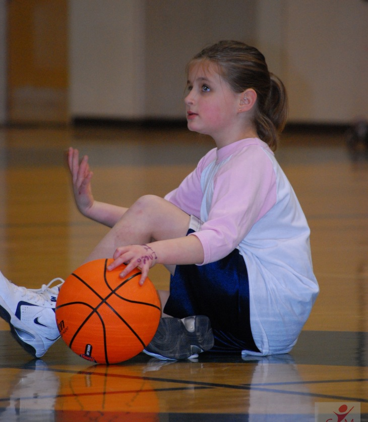 Girl with basketball