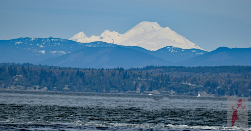 Mount Baker and Puget Sound from Mukilteo Beach