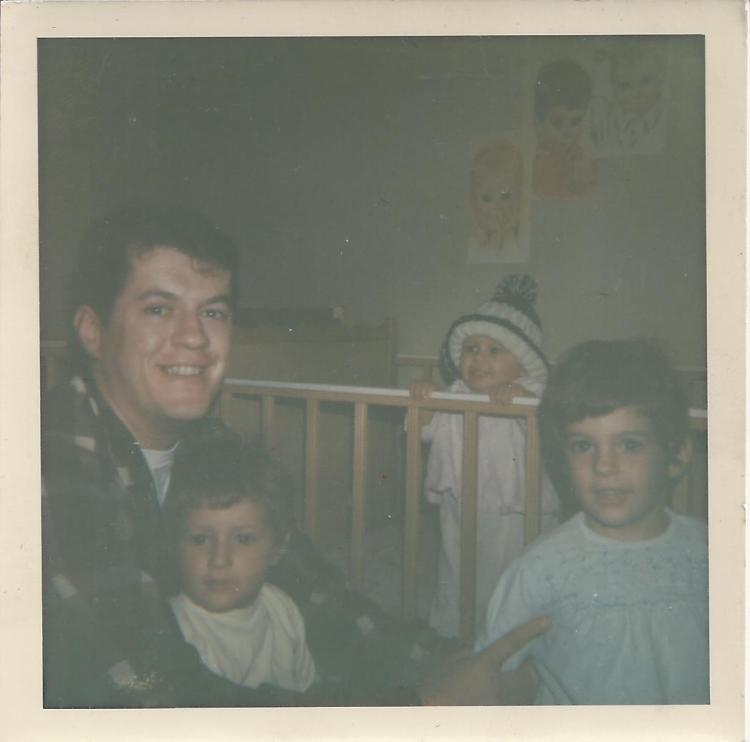 Dad with girls 1967
