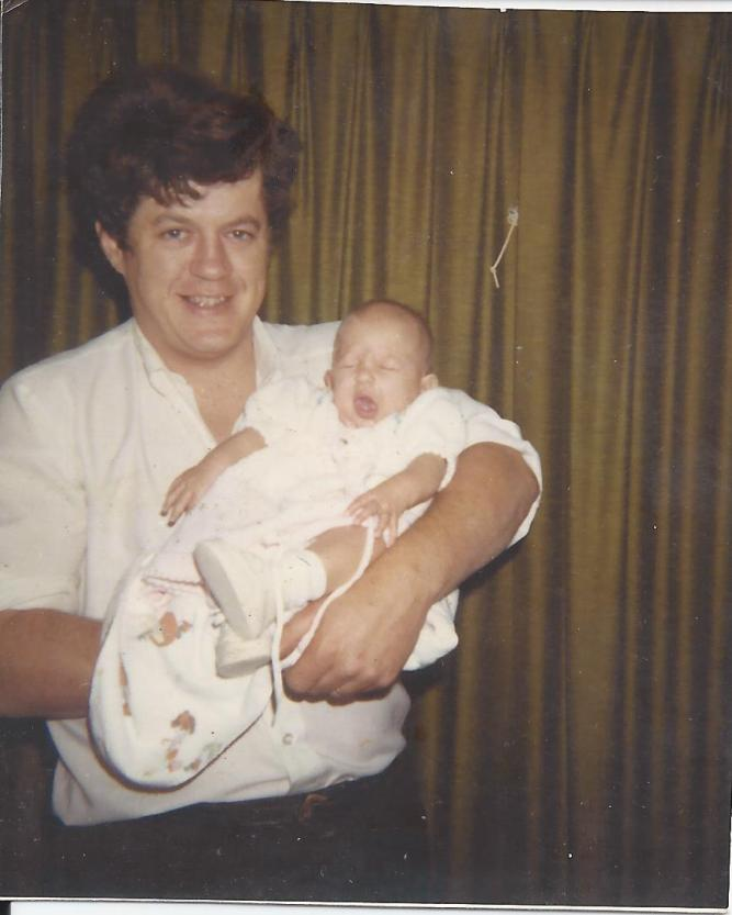 dad with daughter 1970