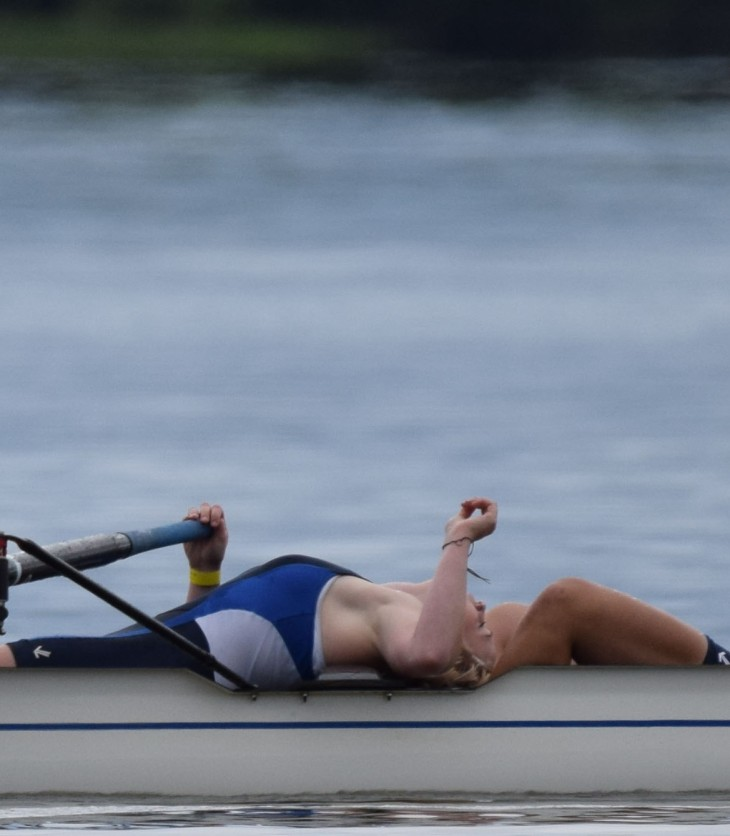 Women rowing