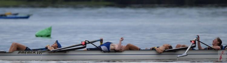 Women rowing